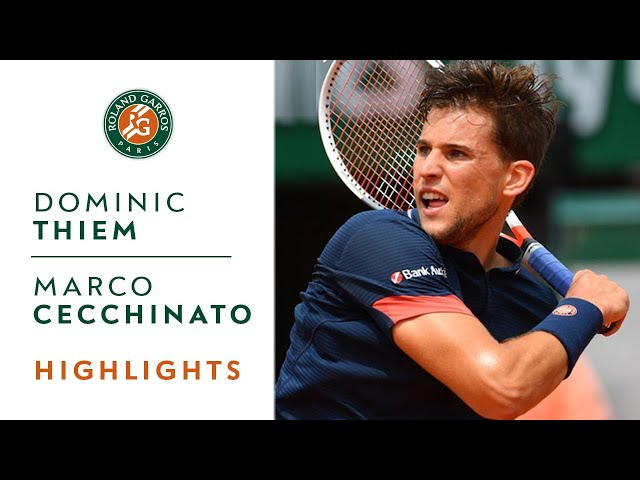 Dominic Thiem vs Marco Cecchinato - Semi-Final Highlights I Roland-Garros 2018