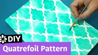 DIY Quatrefoil Pattern | Easy Notebook Cover Idea | Sea Lemon