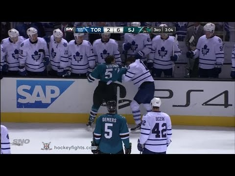 Joffrey Lupul vs Tommy Wingels Mar 11, 2014