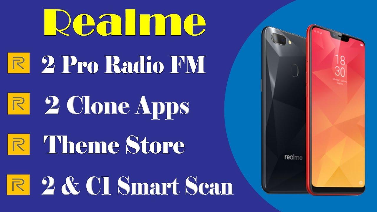 Realme theme store | Realme C1 clone app & Realme smart scan