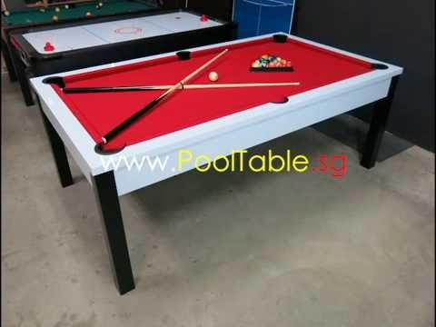 Ft Dining Top Pool Table In YouTube - Red top pool table
