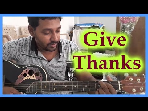 Give Thanks with a Grateful Heart || Guitar Lesson || Eng Christian Song