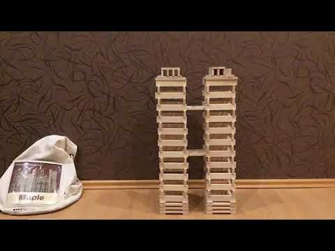 MAPLE Klocki Drewniane świetna Zabawa Dla Dzieci I Dorosłych