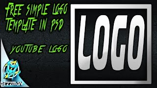 Free simple Logo Template in Photoshop - speed art
