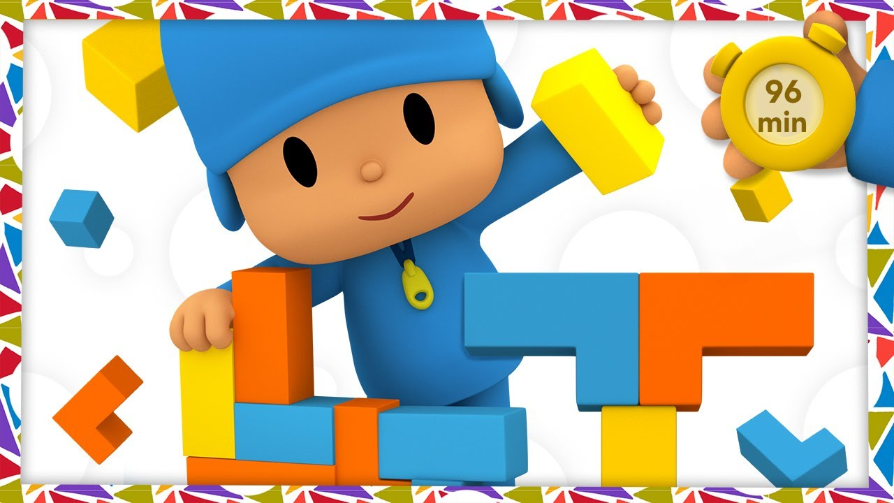 🏗 POCOYO AND NINA - Educational building games [96 min] ANIMATED CARTOON for Children |FULL episodes