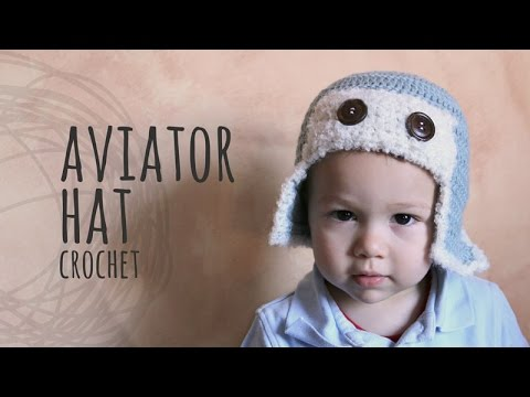 97afffae1 Tutorial Crochet Aviator Hat | All sizes