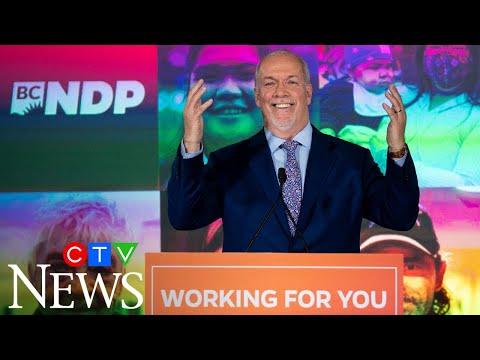 """B.C. has voted"": Watch B.C. NDP Leader John Horgan's victory speech"