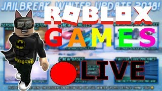 ✅ROAD TO 1K!!🔴ROBLOX JAILBREAK LIVESTREAM🔴 ROBLOX JAILBREAK, HIDE AND SEEK / SAM SAYS. Live Stream