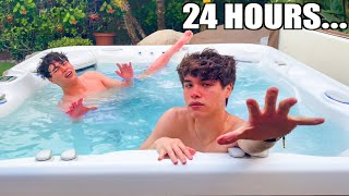 Spending 24 Hours In A Hot Tub!