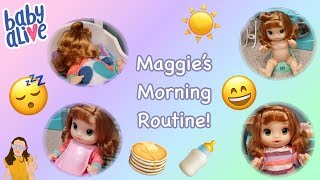 Baby Alive Maggie's Morning Routine | Kelli Maple