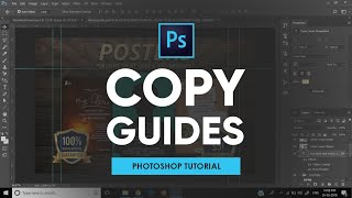 How to Copy - Paste Guides in Adobe Photoshop | Tutorial