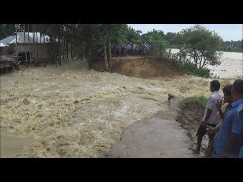 flood flash away dam in kailashar, Tripura