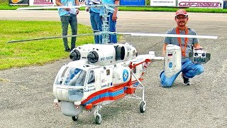 BIG RC KAMOV KA-32A11BC SCALE MODEL TURBINE RUSSIAN HELICOPTER FLIGHT DEMONSTRATION