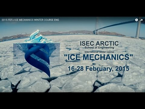 2015 FEFU ICE MECHANICS WINTER COURSE ENG
