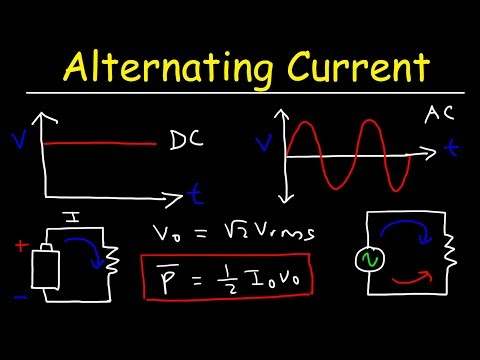 Alternating Current Vs Direct Current - Rms Voltage, Peak Current & Average Power Of AC Circuits