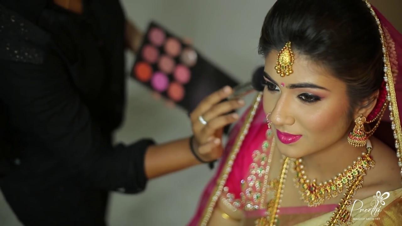 modern bridal makeup & hairstyle | makeup by preethi