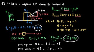 Static and Kinetic Fri¢tion Examples