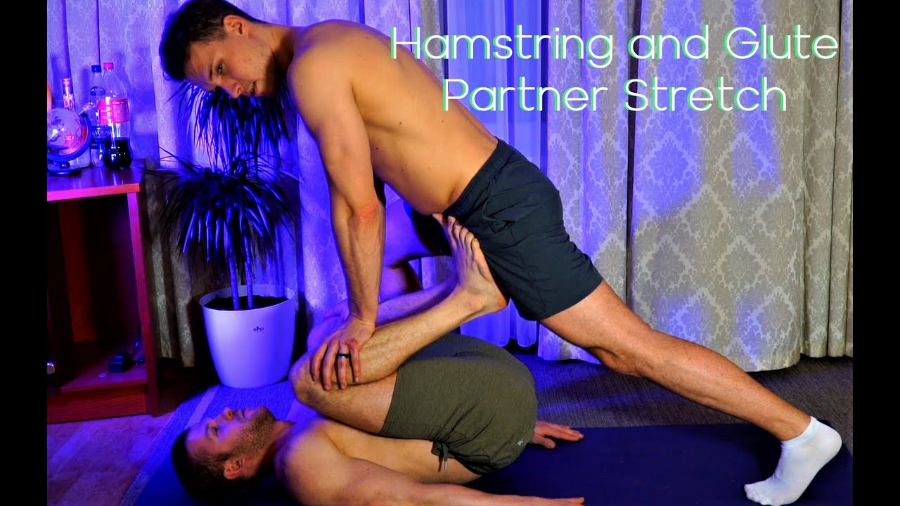 Hamstring and Glute Partner Stretch
