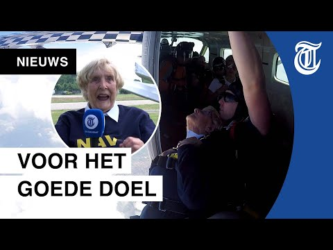 92-jarige Nelly Springt Uit Vliegtuig: 'Ik Voel Me Vrij'