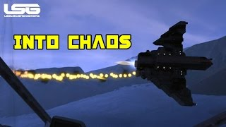 Space Engineers -  Fighter Battle Into Chaos