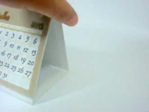 Calendário de Mesa Personalizado. - YouTube
