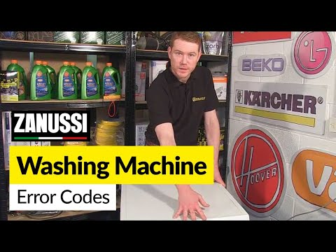 Zanussi Washing Machine Error or Fault Codes.