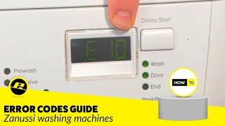 zanussi washing machine error or fault codes
