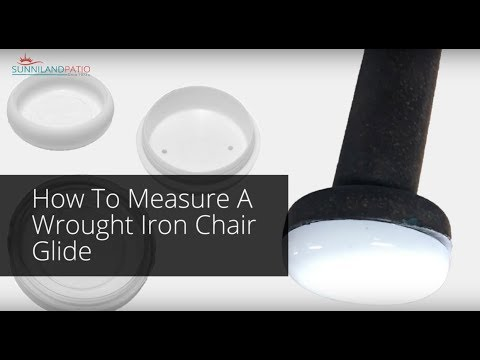 Ordinaire How To Measure A Wrought Iron Chair Glide   YouTube