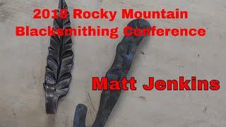 Matt Jenkins hook demonstration 2018 Rocky Mountain Blacksmithing Conference