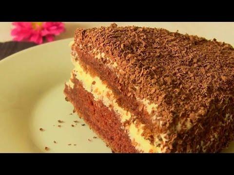Торт Черный принц.Шоколадный торт с белым кремом.Торт на кефире.Çikolatalı Pasta Tarifi