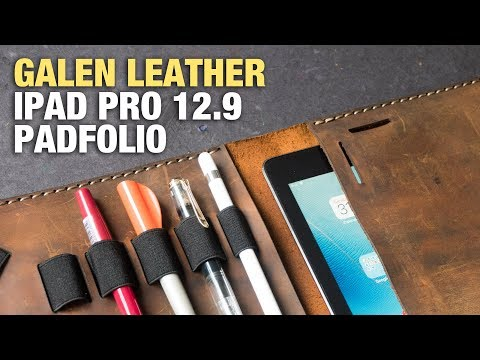 A Premium IPad Pro 12.9 Leather Folio Case By Galen Leather