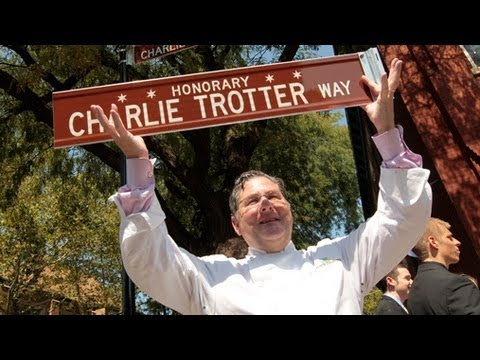Charlie Trotter acts out