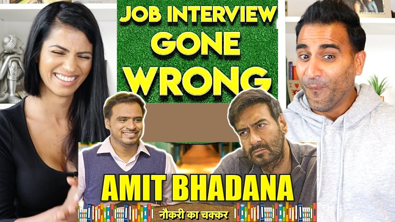 Job Interview Gone Wrong REACTION!!   Feat Ajay Devgn x Amit Bhadana
