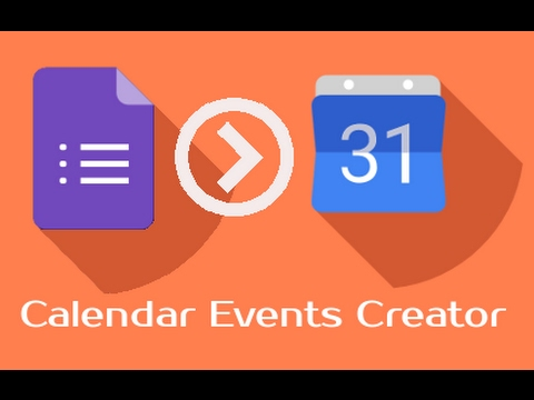 create calendar events by submit google form youtube