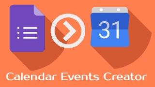 إنشاء أحداث التقويم من خلال تقديم شكل جوجل