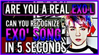 Video CAN YOU RECOGNIZE 15 EXO SONGS IN 5 SECONDS | KPOP GAME download MP3, 3GP, MP4, WEBM, AVI, FLV Mei 2018
