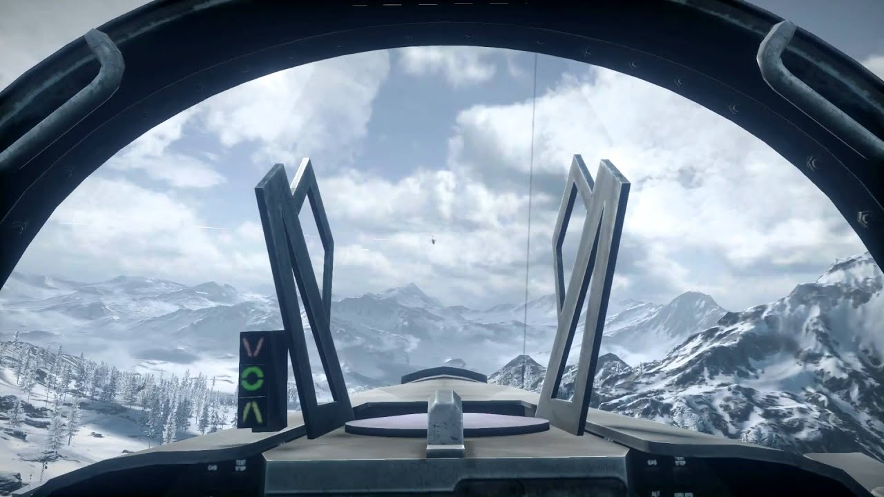 Battlefield 3 - The naked pilot, No UI/HUD flying. - YouTube