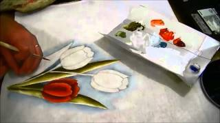 COMO PINTAR TULIPAS – HOW TO PAINT TULIPS – parte 1 de 3