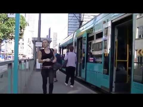 【Deutsche Transport】Straßenbahn Frankfurt am Main Linie 16 am Platz der Republik  (00509)