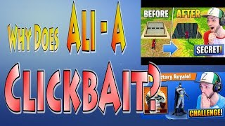 Why Does Ali-A Clickbait in Fortnite?? The ClickBait Generation & our Downfall! | Clickbait Meme