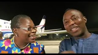 SOWORE flying out of Abuja with Dr  Oby Ezekwesili of the #redcardmovement #Sowore2019