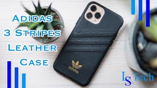 Adidas 3 Stripes Leather Snap …