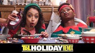 Liza Koshy & Jay Versace Try the 'Elf' Spaghetti | TRL Holiday Remix
