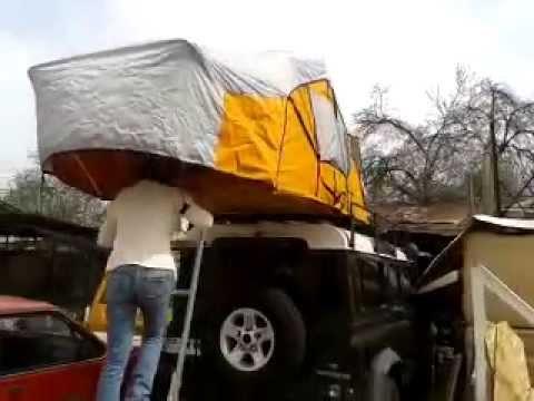 Carpa de techo chilena roof tent para todo vehiculo for Carpas para coches