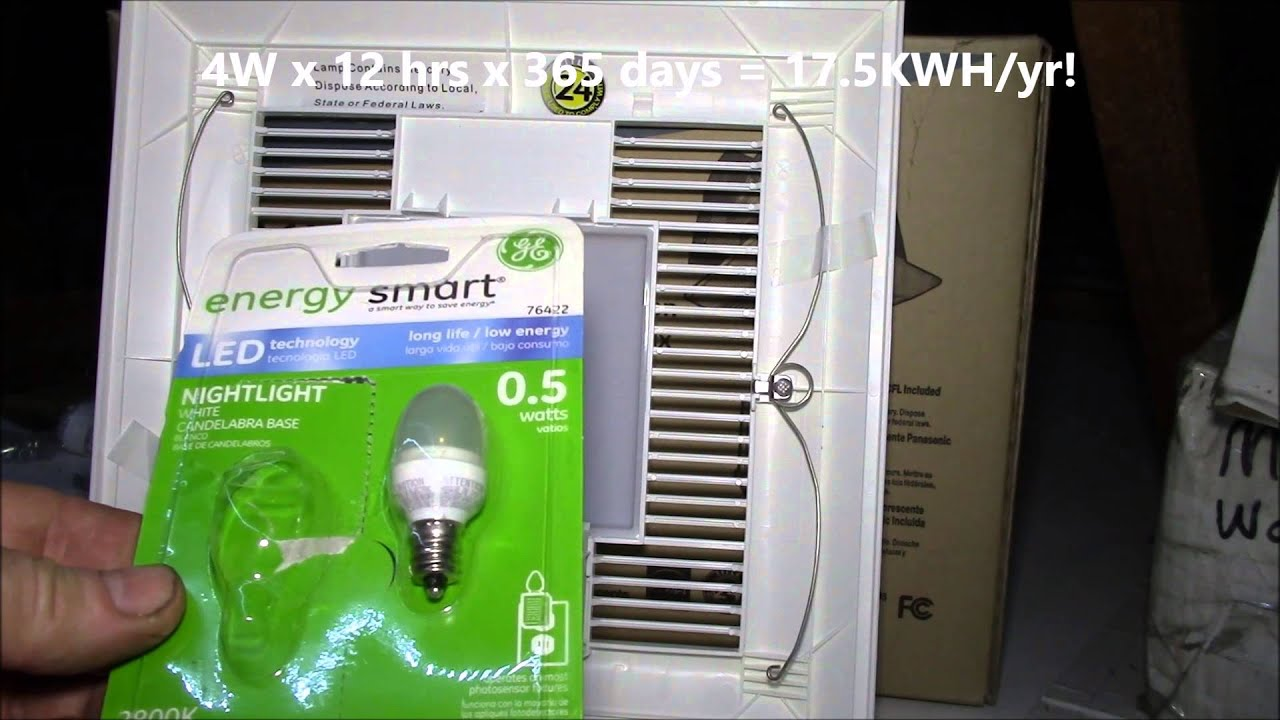 Panasonic FV-11VQL5 WhisperLight Bathroom Fan Light Bulb Tips - YouTube : panasonic bathroom heater fan light - azcodes.com