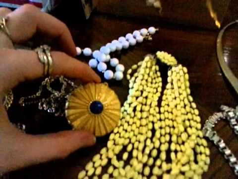 Estate Vintage + newer Jewellery Haul to resell on Ebay for Profit a few tips to spot vintage
