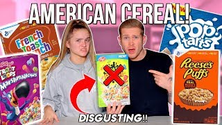 TRYING EVERY AMERICAN CEREAL! 🇺🇸