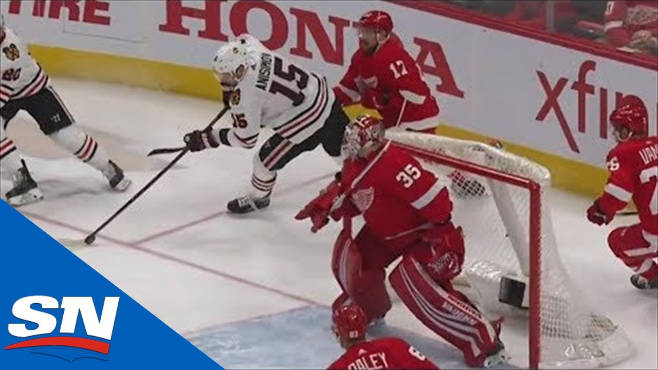 Artem Anisimov Spins Out From Behind The Net And Scores On Red Wings