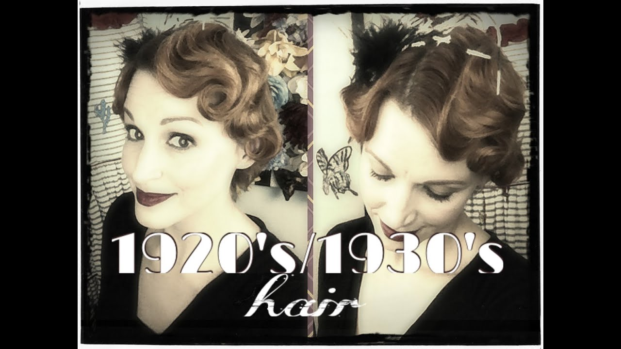 Faux Finger Waving 1920s 1930s Hair Tutorial YouTube