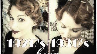 Faux Finger Waving- 1920's/1930's Hair Tutorial